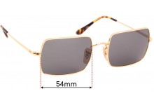 Sunglass Fix Replacement Lenses for Ray Ban RB1969 Rectangle - 54mm wide