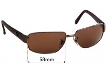 Ray Ban RB3189 Leather II Replacement Sunglass Lenses - 58mm Wide