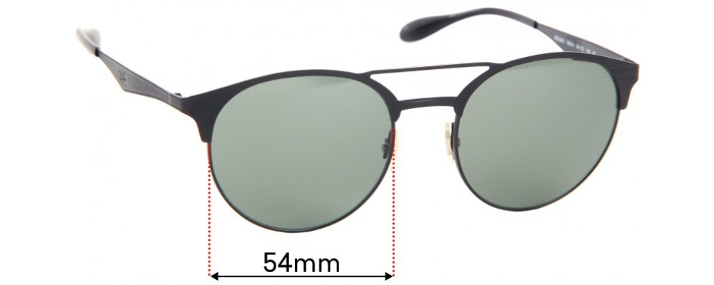 Ray Ban RB3545 Replacement Sunglass Lenses - 54mm Wide