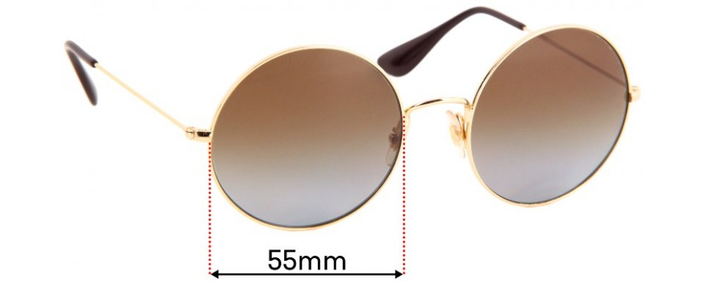Ray Ban RB3592 Replacement Sunglass Lenses - 55mm Wide