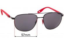 Sunglass Fix Replacement Lenses for Ray Ban RB3659-M - 55mm wide