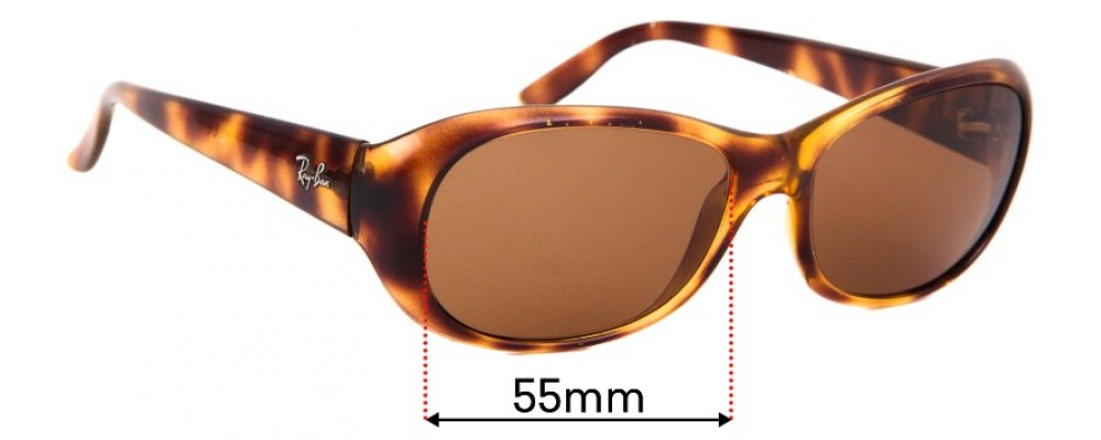 Sunglass Fix Replacement Lenses for Ray Ban RB4061 - 55mm wide