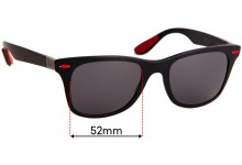 Ray Ban RB4195-M Liteforce Replacement Sunglass Lenses - 52mm Wide