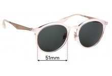 Sunglass Fix Replacement Lenses for Ray Ban RB4277 - 51mm wide