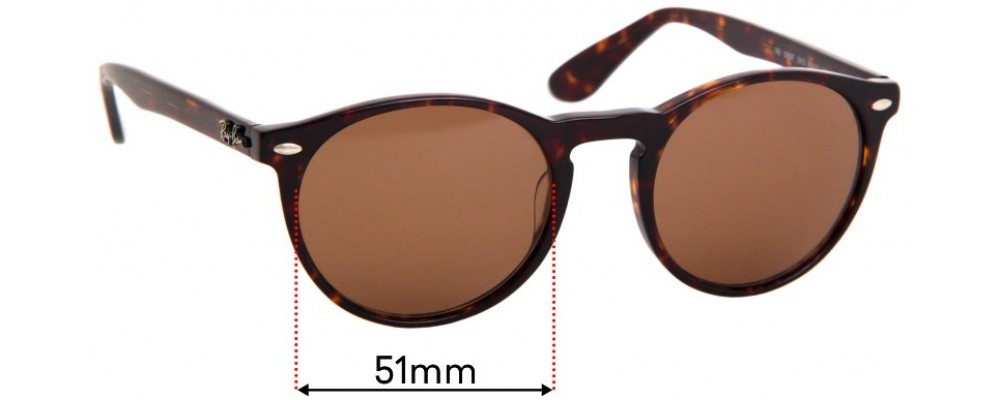 Ray Ban RB5283F Replacement Sunglass Lenses - 51mm wide