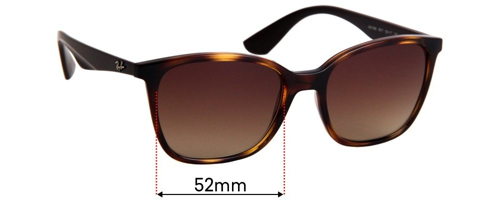 Ray Ban RB7066 Replacement Sunglass Lenses - 52mm Wide