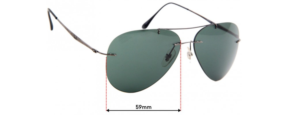 Ray Ban RB8055 Replacement Lenses