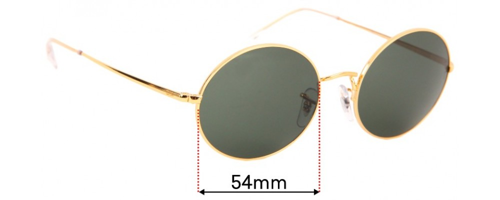 Sunglass Fix Replacement Lenses for Ray Ban RB1970 Oval - 54mm wide