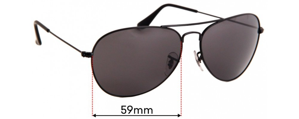 Ray Ban RB3432 Replacement Lenses 64mm