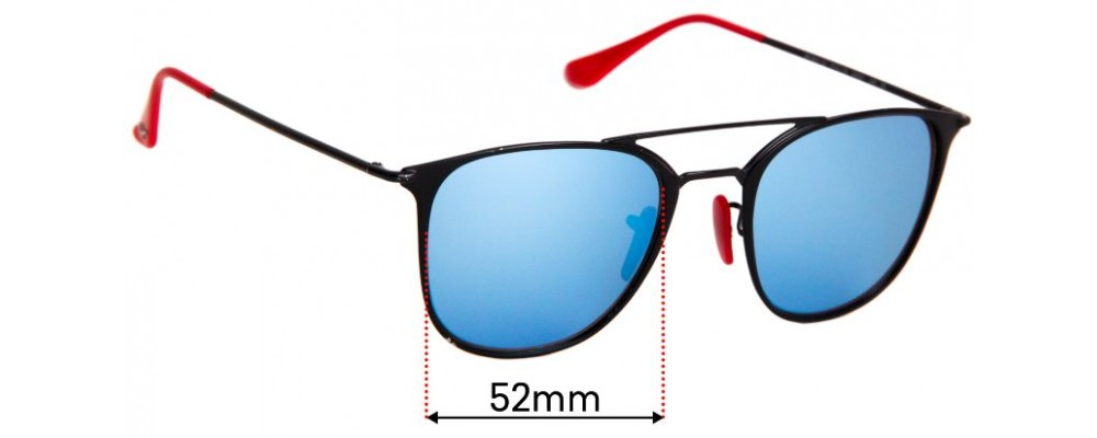 Sunglass Fix Replacement Lenses for Ray Ban RB3601-M - 52mm wide