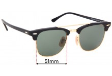 Sunglass Fix Replacement Lenses for Ray Ban RB3816 - 51mm wide