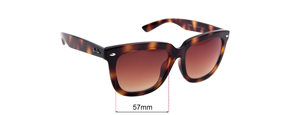 Ray Ban RB4262D  Replacement Sunglass Lenses - 57mm Wide