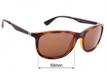 Sunglass Fix Replacement Lenses for Ray Ban RB4267 - 59mm wide