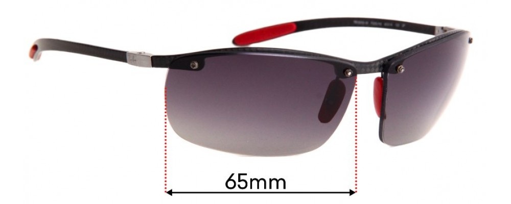 Ray Ban Tech RB8305-M Replacement Sunglass Lenses - 65mm Wide
