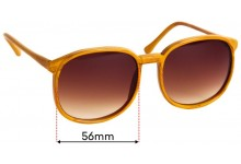 Roc Taiwan Replacement Sunglass Lenses 56mm Wide