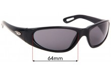 Ryders Replacement Sunglass Lenses - 64mm wide