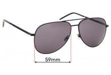 Saint Laurent Classic II Folk Replacement Sunglass Lenses - 59mm wide
