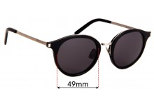 Saint Laurent SL 57  Replacement Sunglass Lenses - 49mm wide
