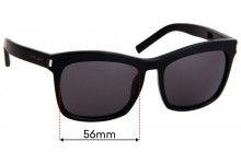 Sunglass Fix Replacement Lenses for Saint Laurent SL 19 - 56mm Wide