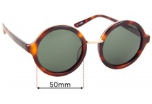 Sunglass Fix Replacement Lenses for Sass & Bide Dazed & Amused - 50mm wide