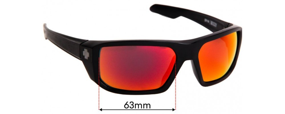 SFX Replacement Sunglass Lenses fits Spy Optics McCoy 63mm Wide