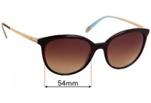 Tiffany & Co TF 4117-B Replacement Sunglass Lenses - 54mm Wide