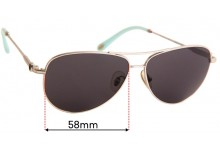 Sunglass Fix Replacement Lenses for Tiffany & Co TF 3043-H - 60mm wide
