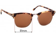 Sunglass Fix Replacement Lenses for Tom Ford Henry TF248 - 51mm Wide