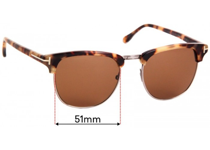 Fuse Lenses Polarized Replacement Lenses for Tom Ford TF5346