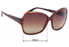 Tom Ford Nicola TF229 Replacement Sunglass Lenses - 60mm wide