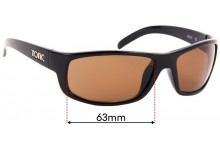 Tonic Bono Replacement Sunglass Lenses - 63mm Wide