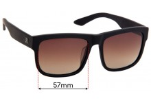 Sunglass Fix Replacement Lenses for Twice Eyewear Lunar - 57mm Wide
