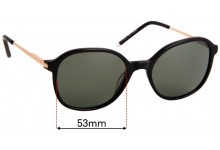 Viktor & Rolf VR 01 Replacement Sunglass Lenses - 53mm Wide