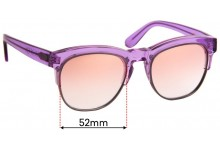 Wildfox Club Fox Replacement Sunglass Lenses - 55mm Wide