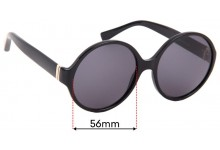 Yves Saint Laurent YSL6321-S Replacement Sunglass Lenses - 56mm wide