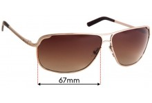 Diesel DS 0068 Replacement Sunglass Lenses - 67mm wide
