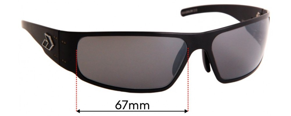 Gatorz Magnum 2.0 Replacement Sunglass Lenses - 67mm wide