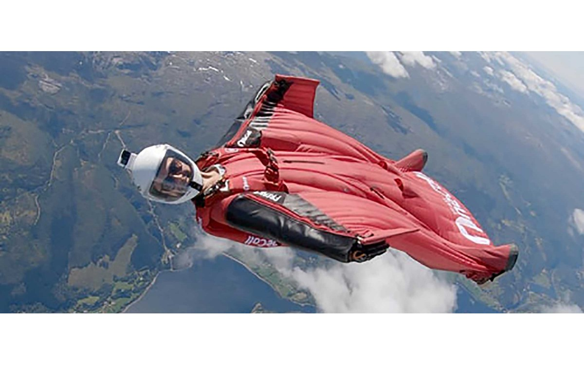 check out amber forte cruising almost in space in her windsuit