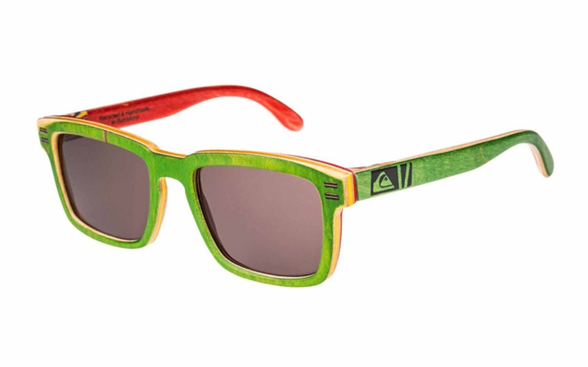 New Eco-Friendly Bamboo Sunglasses & Quicksilver Recycled Skateboard Shades, Sweet!