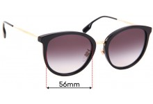 Sunglass Fix Replacement Lenses for Burberry B 4289 D - 56mm Wide