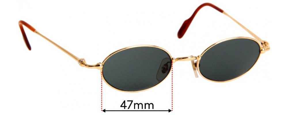 Sunglass Fix Replacement Lenses for Cartier 2728186 - 47mm wide