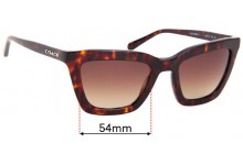 Coach HC8203 Replacement Sunglass Lenses - 54mm wide