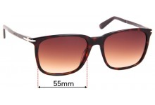 Sunglass Fix Replacement Lenses for Gucci GG 1104/S - 55mm wide