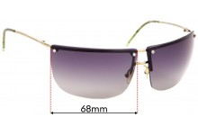 Gucci GG 2652/S Replacement Sunglass Lenses - 68mm wide