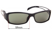 Sunglass Fix Replacement Lenses for GUCCI GG1489/S - 59mm wide