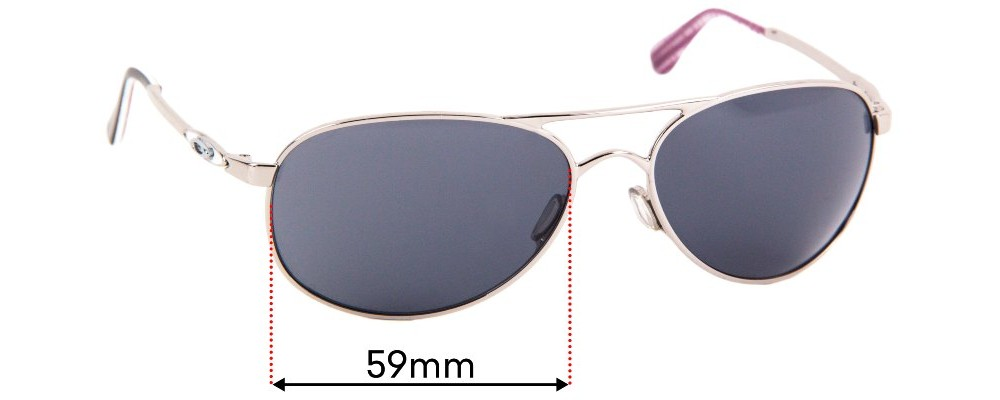 Sunglass Fix Replacement Lenses for Oakley Given OO4068 - 59mm Wide