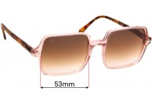 Ray Ban RB1973 Square II Replacement Sunglass Lenses - 53mm Wide
