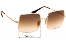 Ray Ban RB1971 Square Replacement Sunglass Lenses - 54mm Wide