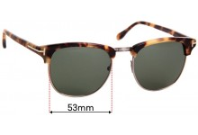 Sunglass Fix Replacement Lenses for Tom Ford Henry TF248 - 53mm Wide