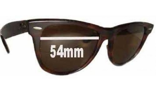 Sunglass Fix Replacement Lenses for Ray Ban Wayfarer I Bausch and Lomb - 54mm wide